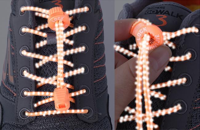 Kvalitné reflexívne šnúrky do topánok Aonijie E4055.  Reflexné gumové šnúrky, ktoré sú vysoko elastické.