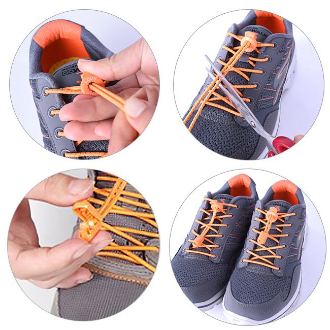Šnúrky do topánok, ktoré je možné upraviť na mieru, skrátiť.  Zkratitelné šnúrky Aonijie E4055.
