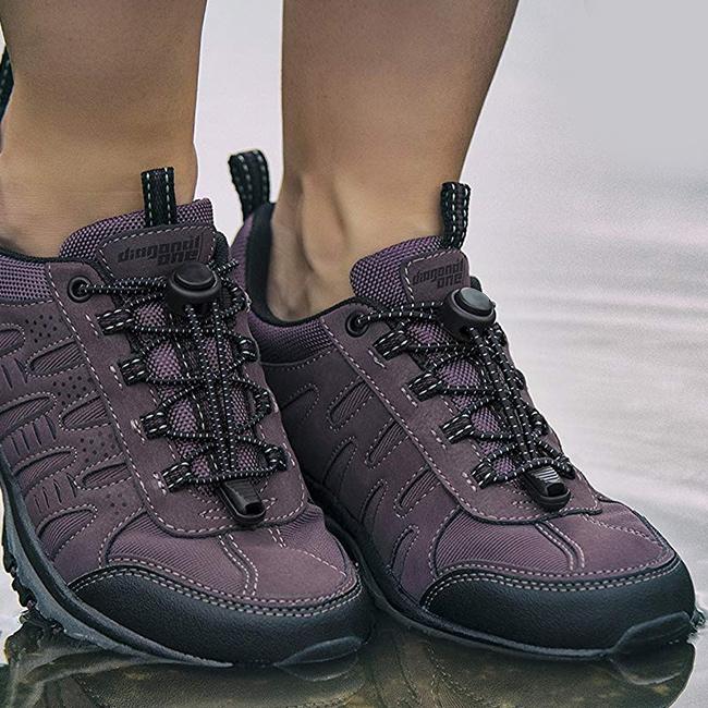 Šnúrky pre teenagerov, seniorov.  Športové šnúrky do topánok elastickej pružnej Dava EASYlace.