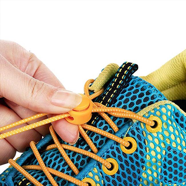 Šnúrky do topánok bez zaväzovanie elastické reflexnej Dava EasyLace.