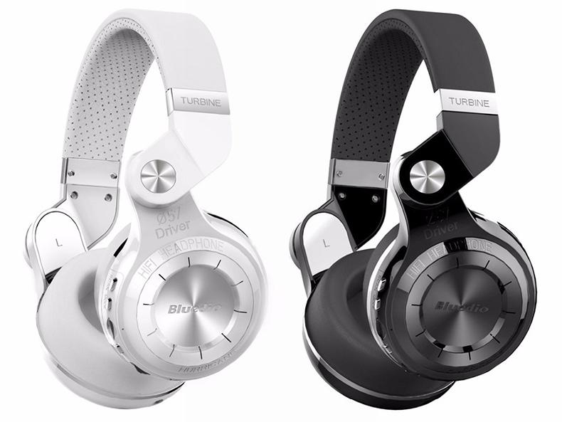 Biela alebo čierna slúchadlá cez hlavu Bluedio T2 +