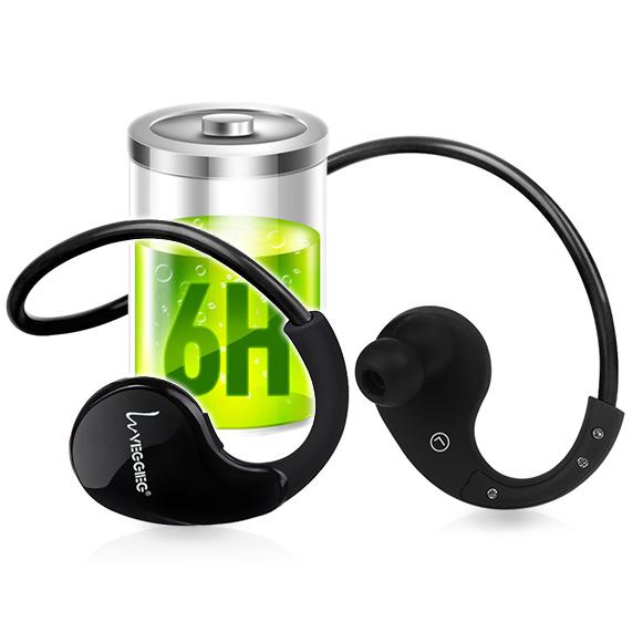 Bezdratová sluchátka za uši za hlavu s dlouhou výdrží baterie.