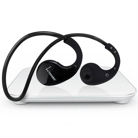 Lehká sportovní bezdrátová sluchátka s váhou 18g.