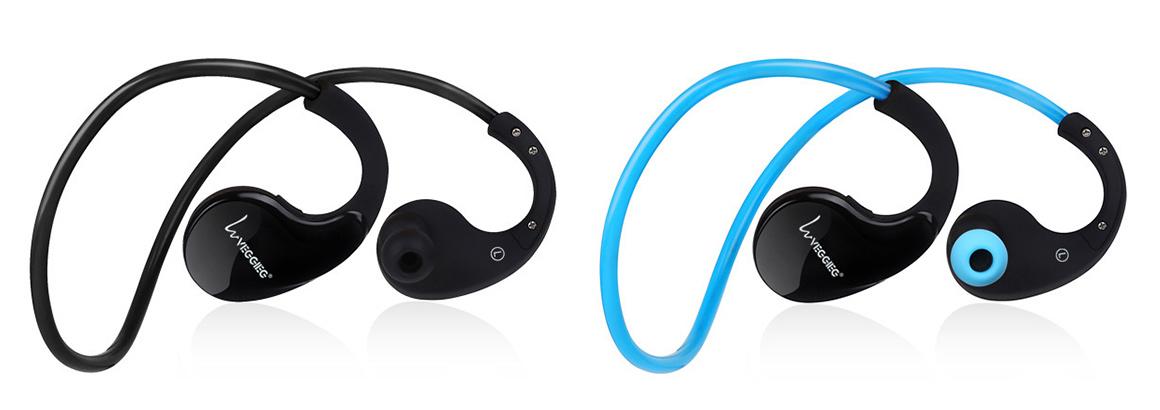 Bezdratova Bluetooth sluchátka černá nebo modrá.